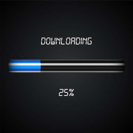 downloading: Downloading progress bar Illustration