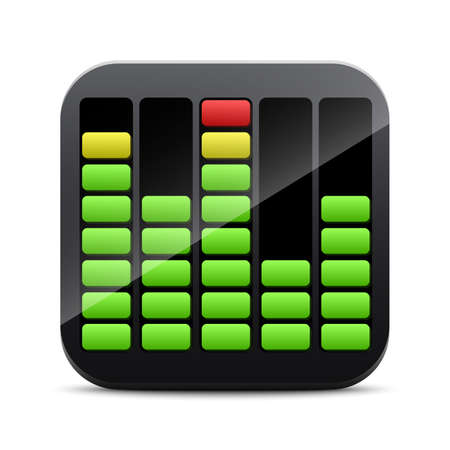 equalizer: Digital equalizer icon Illustration