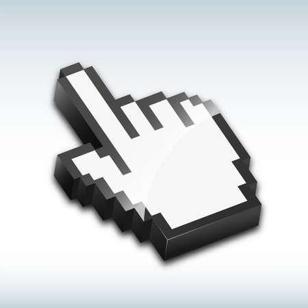 cursor: Hand cursor vector illustration Illustration