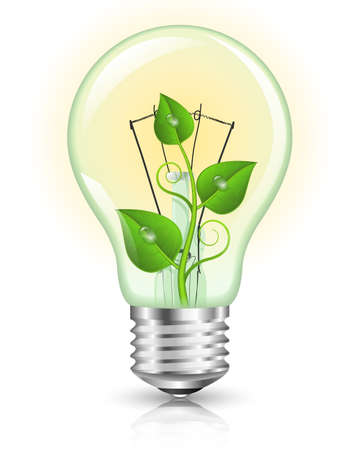 groene energie: Green Energy Concept. Vector Illustration