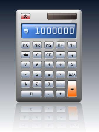 teclado numerico: calculadora electrónica, ilustración vectorial