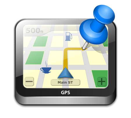 gps navigator: GPS navigator icon. Vector