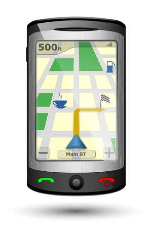 gps navigator: GPS Navigator, Vector illustration