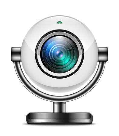 ip camera: Web camera icon isolated on white background Illustration