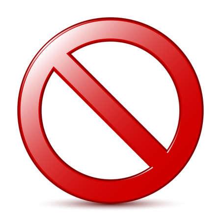 interdiction: Aucun signe. Vecteur Illustration