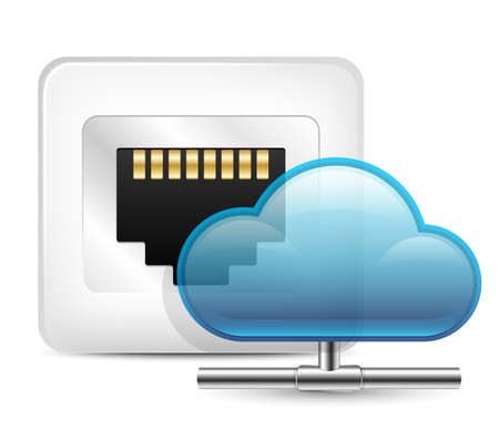 ip: Cloud Computing Concept. Vector Illustration