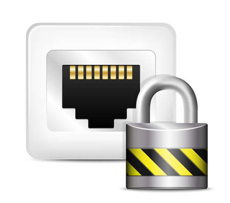 tcp: Network Security Icon. Vector