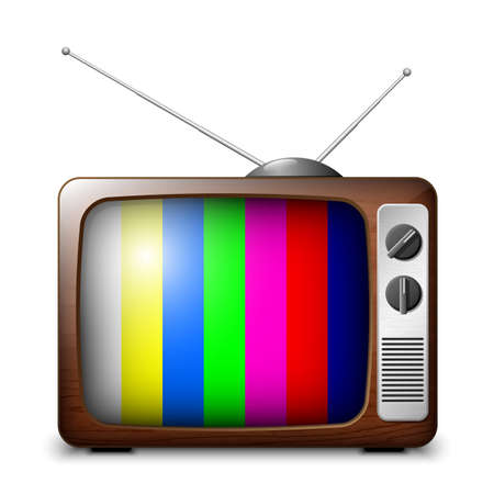 iptv: Retro TV with color frame, vector