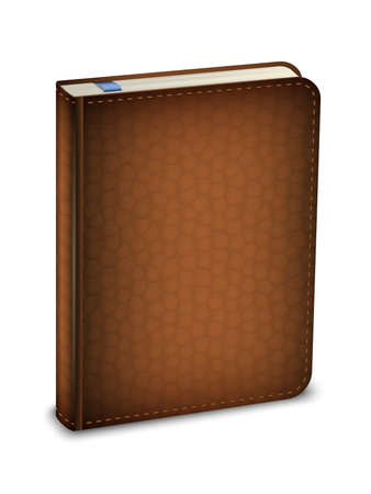 elastic: Vector diary in the leather cover Illustration