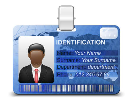 photo card: Identification card icon. Vector illustration