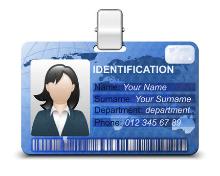 access card: Identification card icon. Vector illustration