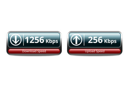 speed test: Download and upload speed test icon, vector illustration Illustration