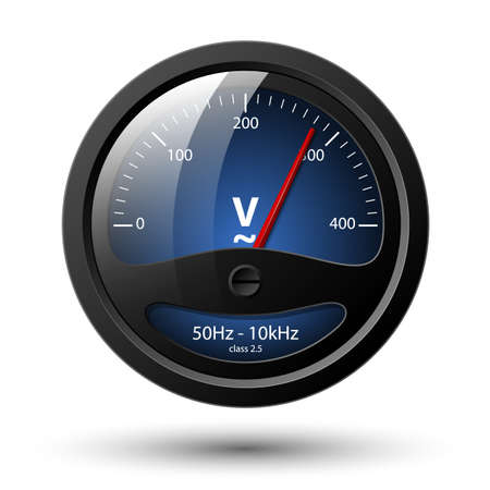 ico: Vector voltmeter icon