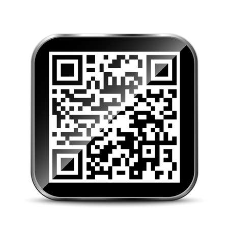 QR Code App Icon Illustration