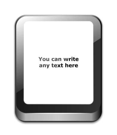 gsm phone: Tablet icon with blank white screen and space for your text. Vector illustration