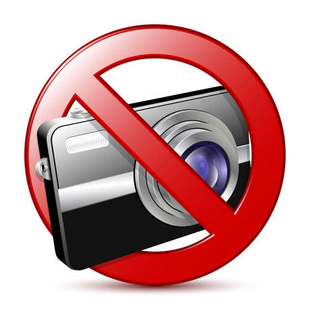 ban: No photography sign. Vector illustration Illustration