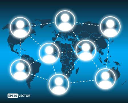 multilevel: Vector illustration of social network concept Illustration