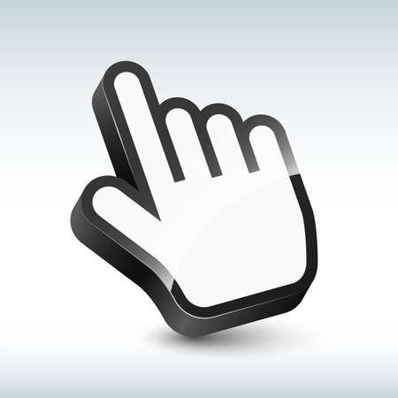 Vector three-dimensional hand cursor