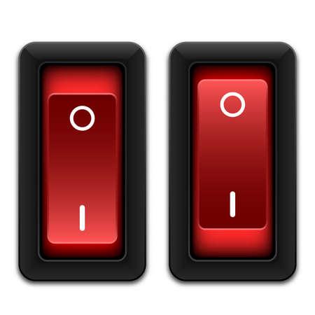 the switch: Potenza passa icona, vettore Vettoriali
