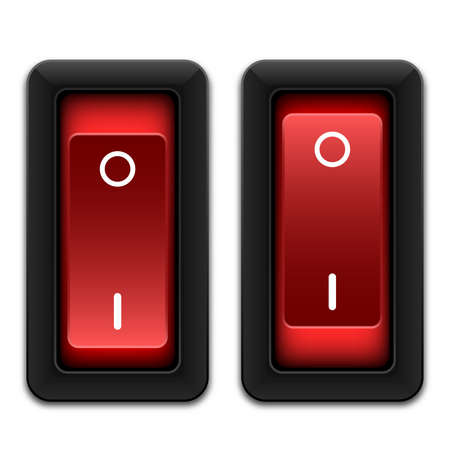 switches: Power switches icon, vector Illustration
