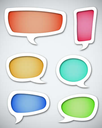 bubble: Speech bubbles set