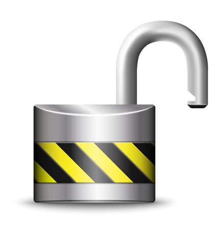 icono candado: Vector icono del candado abierto Vectores