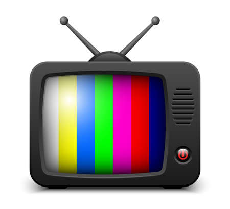 tv set: Stylish retro TV set icon. Vector illustration