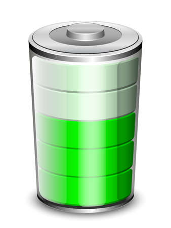 gasoline powered: Vector Battery Icon