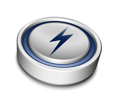high powered: Battery Icon Illustration
