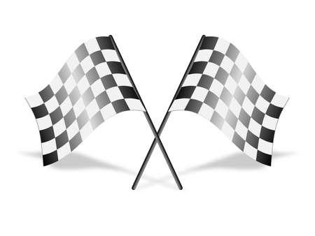 cuadros blanco y negro: Banderas a cuadros de carreras, vector