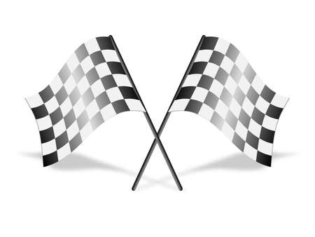 chequer: Checkered racing flags, vector