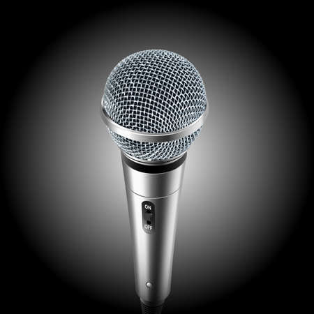 scenical: Classic vector microphone Illustration