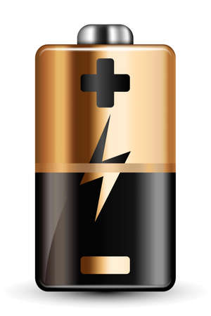 high powered: Vector Battery Icon
