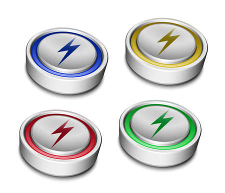 high powered: Set of Battery Icons Illustration