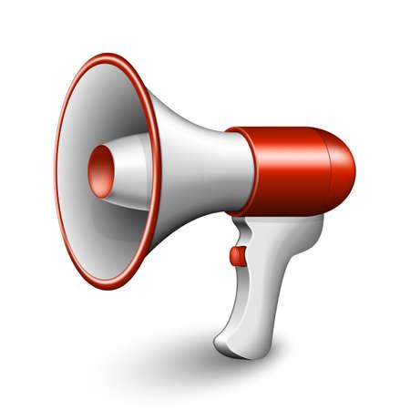 megafono: Megáfono rojo