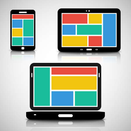 operating system: Smartphone, tablet and laptop with tiled style graphic user interface
