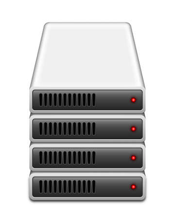 portable hard disk: Storage array icon, vector illustration