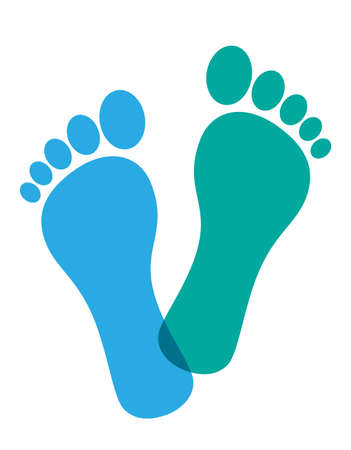 Colored foot prints