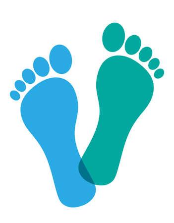 Gekleurde voet prenten