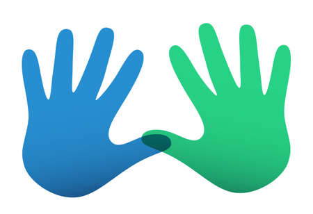 handprints: Colored vector handprints