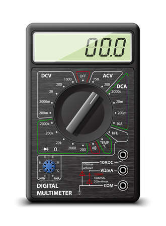 alternating current: Digital multimeter, vector