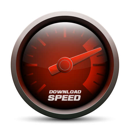 fast computer: Download speed icon, vector illustration