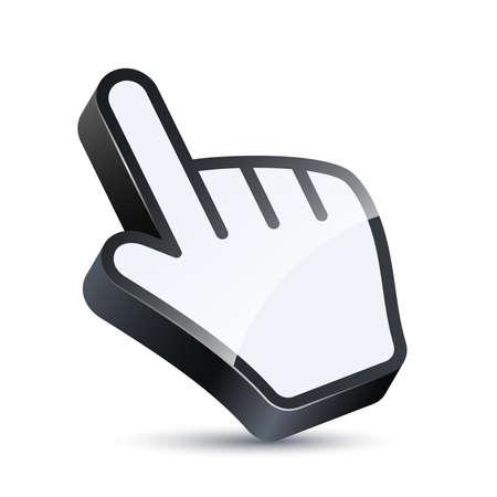 3d cursor: Vector 3D hand cursor
