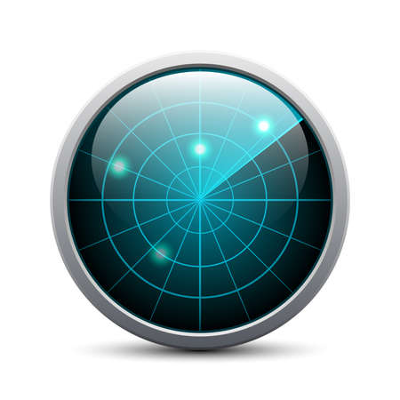 oscilloscope: radar on white background
