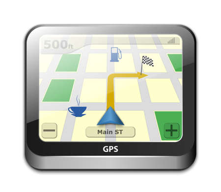 gps navigator: GPS navigator icon. Vector illustration Illustration