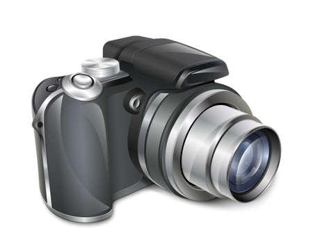 telephoto: Digital photo camera.  Illustration