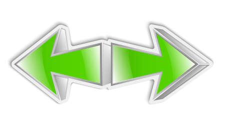 green arrows: Green arrows icon sticker.