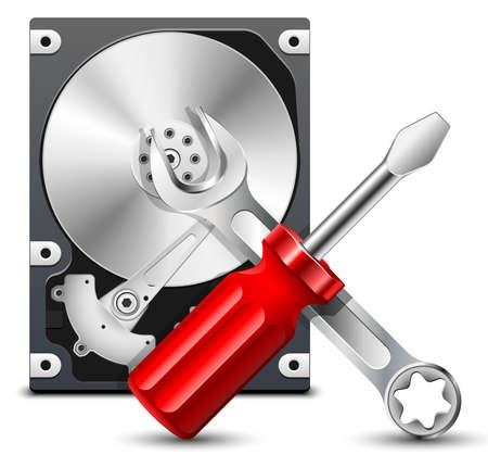 Icono de la reparación de disco duro
