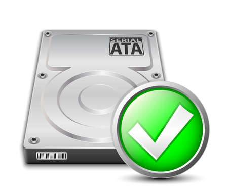 sata: hard disk drive icon Illustration