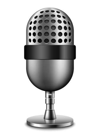scenical: Microphone icon Illustration